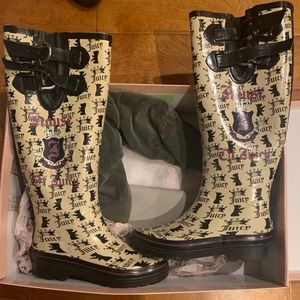 Juicy Couture StormyBoot Rubber Rain Boots 6